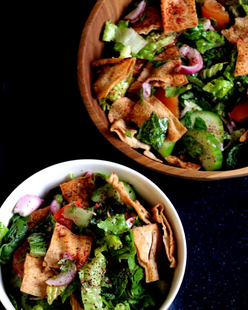 Fattoush-a vegan Lebanese salad   Salads   Greenbowl2soul