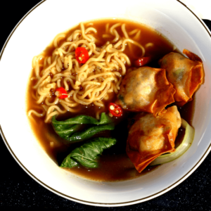 Fried wonton soup
