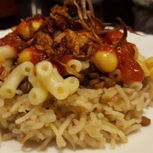 Koshari_ vegan national dish of Egypt