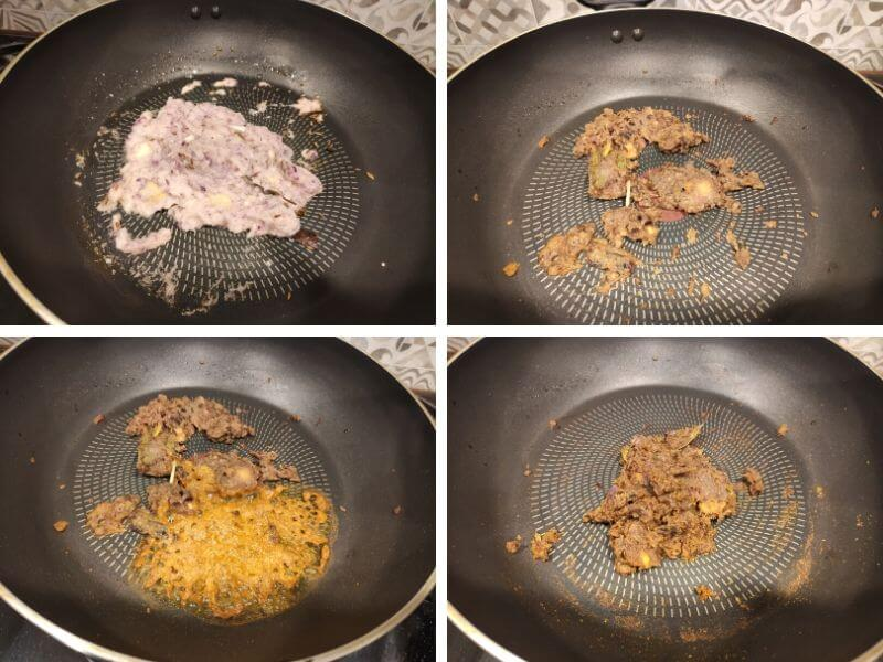 Step by step process of making Mixed Indian beans curry