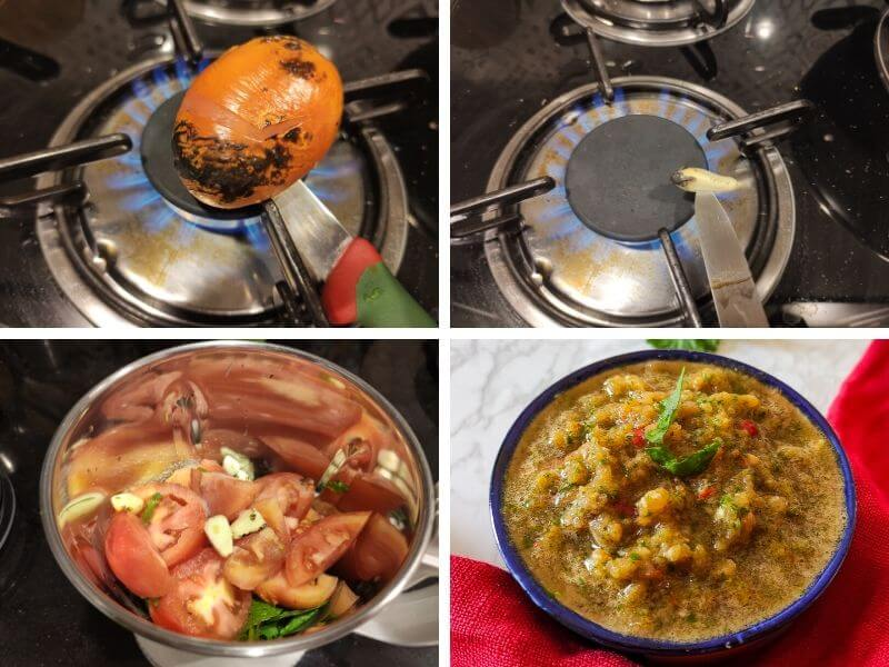 Step by step process of tomato chutney recipe