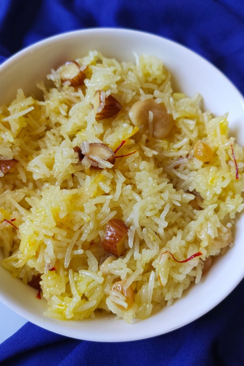 Sweet rice recipe-Meethe Chawal/ Zarda Pulao | A quick ...